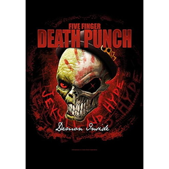 Flag Five Finger Death Punch - Dapper, HEART ROCK, Five Finger Death Punch
