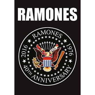 Flag Ramones - 40th Anniversary Logo, HEART ROCK, Ramones