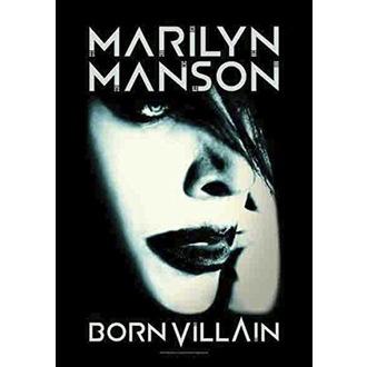 Flag Marilyn Manson - Born Villain, HEART ROCK, Marilyn Manson