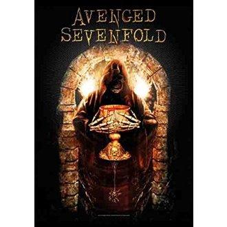 Flag Avenged Sevenfold - Golden Arch, HEART ROCK, Avenged Sevenfold