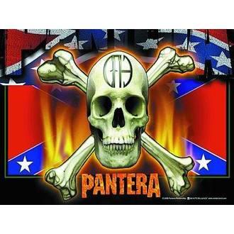 flag Pantera - Flag & Skull, HEART ROCK, Pantera