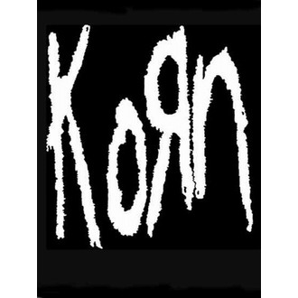 flag KORN - Band Logo, HEART ROCK, Korn