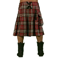 Men's Kilt DEAD THREADS - Red Tartan, DEAD THREADS