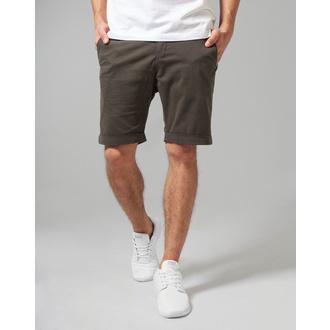 Men's shorts URBAN CLASSICS - Stretch Turnup Chino - TB1264-darkolive
