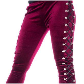 Women's trousers (leggings) CHEMICAL BLACK - BEETLE - RED - POI663