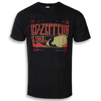t-shirt metal men's Led Zeppelin - Zeppelin & Smoke Black - NNM, NNM, Led Zeppelin