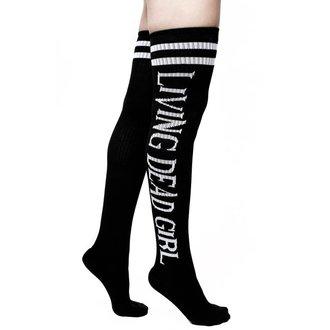 Over-the-Knee socks KILLSTAR - ROB ZOMBIE - Living Dead Girl - BLACK, KILLSTAR, Rob Zombie