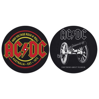 Gramophone Pad (set of 2pcs) AC / DC - FOR THOSE MOUT TO ROCK - HIGH VOLTAGE - RAZAMATAZ, RAZAMATAZ, AC-DC