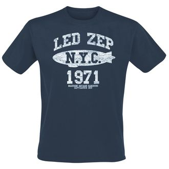 t-shirt metal men's Led Zeppelin - NYC 1971 - NNM - RTLZETSNNYC