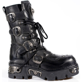 boots leather - Vampire Boots (107-S3) Black - NEW ROCK - M.107-S3
