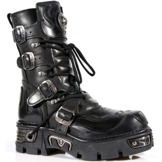 boots leather - Vampire Boots (107-S3) Black - NEW ROCK, NEW ROCK