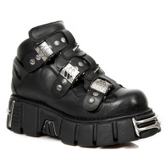 leather boots unisex - ITALI NEGRO, NOMADA NEGRO, TOWER NEGRO ACERO - NEW ROCK, NEW ROCK