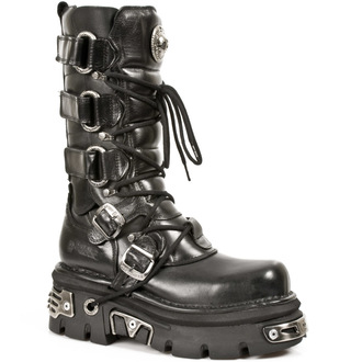 boots leather - Girdle Boots (474-S1) Black - NEW ROCK, NEW ROCK