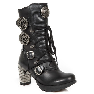 high heels women's - ITALI NEGRO, NOMADA NEGRO - NEW ROCK, NEW ROCK