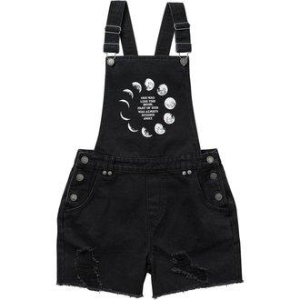 Shorts Women's KILLSTAR - MANY MOONS DENIM - BLACK, KILLSTAR