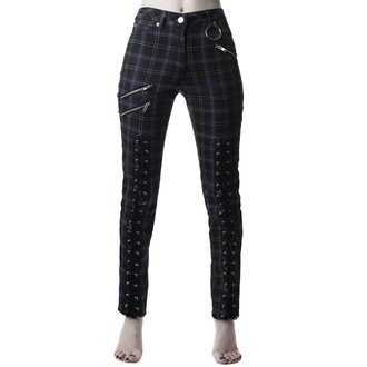 Women's trousers KILLSTAR - Mazzy Lace-Up - TARTAN, KILLSTAR