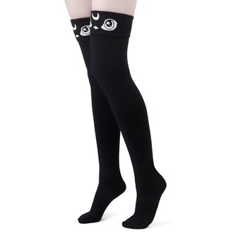 Over-the-knee socks KILLSTAR - Meowgical - BLACK, KILLSTAR