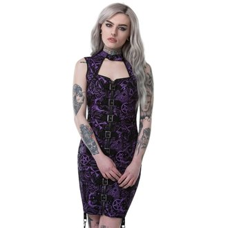 Dress Women's KILLSTAR - MISS MORBID BUCKLE UP - BLACK - K-DRS-F-2772