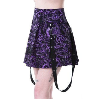 Skirt Women's KILLSTAR - MISS MORBID - BLACK, KILLSTAR