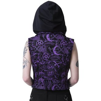 vest - MISS MORBID CROPPED BIKER - KILLSTAR