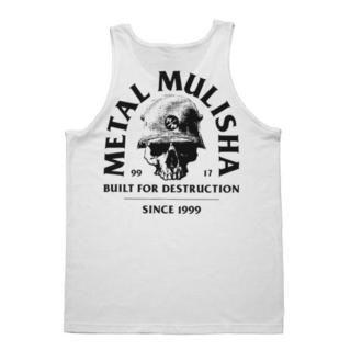 Top Men's METAL MULISHA - BUILT - WHT, METAL MULISHA