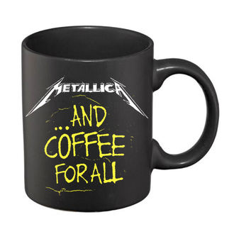 Ceramic Mug Metallica - And Coffee For All Matt - Black, NNM, Metallica