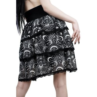 Skirt Women's KILLSTAR - NEW MOON - BLACK, KILLSTAR