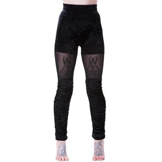 Women's Leggings KILLSTAR - NIGHTSHADE VELVET - BLACK, KILLSTAR