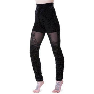 Women's Leggings KILLSTAR - NIGHTSHADE VELVET - BLACK - K-LEG-F-2900