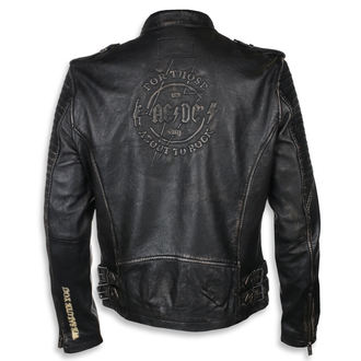 leather jacket AC-DC - Black/beige - NNM