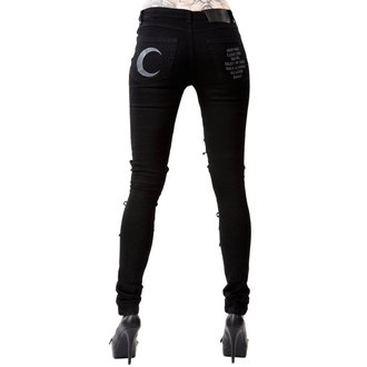 Trouser Women's KILLSTAR - PHASED OUT JEANS - BLACK, KILLSTAR