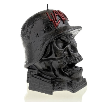 candle SLAYER - WEHRMACH - BLACK METALLIC - PLASTIC HEAD, PLASTIC HEAD, Slayer