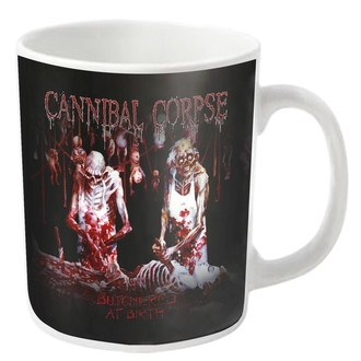 Mug CANNIBAL CORPSE - BUTCHERED - White - PLASTIC HEAD, PLASTIC HEAD, Cannibal Corpse
