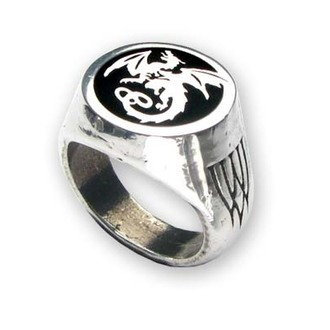 ring Wyverex Dragon Signet Ringl ALCHEMY GOTHIC - R154