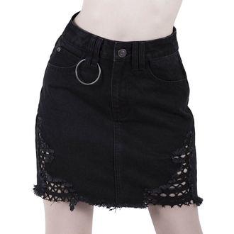 Women's skirt KILLSTAR - Rawked Out - Denim - BLACK, KILLSTAR