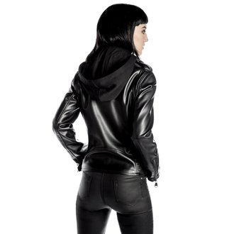 leather jacket women's - Ruth Less Veganomicon Biker - KILLSTAR, KILLSTAR