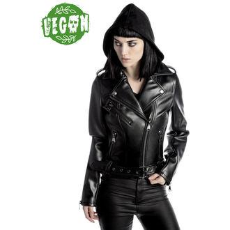 leather jacket women's - Ruth Less Veganomicon Biker - KILLSTAR, KILLSTAR