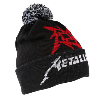 Beanie Metallica - Glitch Star Logo - Black Woven Bobble, Metallica