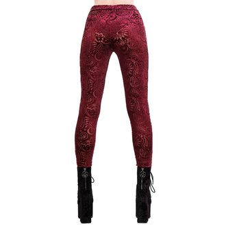 Women's pants (leggings) KILLSTAR - Saiph - WINE, KILLSTAR