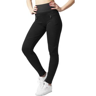 women´s trousers (leggings) URBAN CLASSICS - Interlock High Waist - TB1053-blk/blk