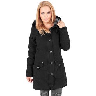 winter jacket women's - Garment washed Long Parka - URBAN CLASSICS - TB1088-black