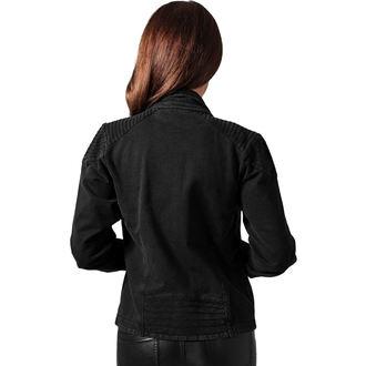 spring/fall jacket women's - Acid Wash Terry Biker - URBAN CLASSICS, URBAN CLASSICS