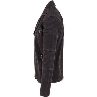 spring/fall jacket - Acid Wash Terry Biker - URBAN CLASSICS - TB1255-darkgrey