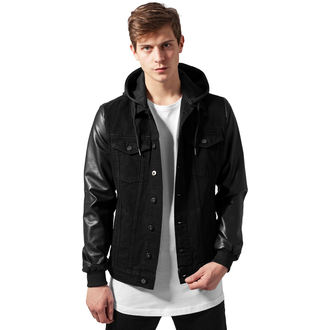 spring/fall jacket - Denim leather Imitation - URBAN CLASSICS, URBAN CLASSICS