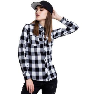 women's shirt URBAN CLASSICS - Turnup Checked Flannel, URBAN CLASSICS
