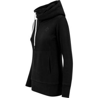 hoodie women's - Long Logopatch - URBAN CLASSICS - TB1328-black