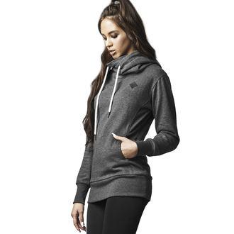 Hoodie women's - Long Logopatch - URBAN CLASSICS - TB1328-charcoal