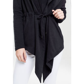 hoodie women's - sweat Cardigan - URBAN CLASSICS - TB1330-black