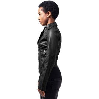 spring/fall jacket women's - Leather Imitation Biker - URBAN CLASSICS, URBAN CLASSICS