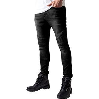 men's jeans URBAN CLASSICS - Slim Fit Biker Jeans - TB1436- black